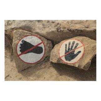 Impression Sur Bois Aucun signe émouvant ou de marche