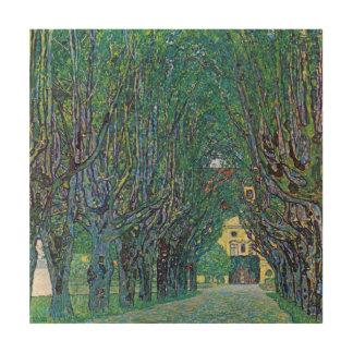 Impression Sur Bois Avenue en parc de Schloss Kammer par Gustav Klimt