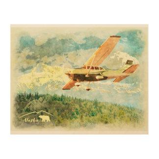 Impression Sur Bois Avions de l'Alaska (AK) sur la peinture