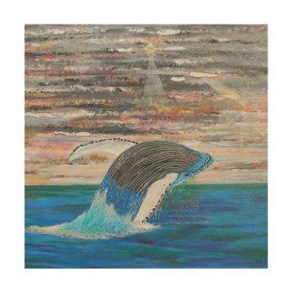 Impression Sur Bois Baleine de bosse