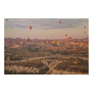 Impression Sur Bois Ballons à air chauds au-dessus de Cappadocia