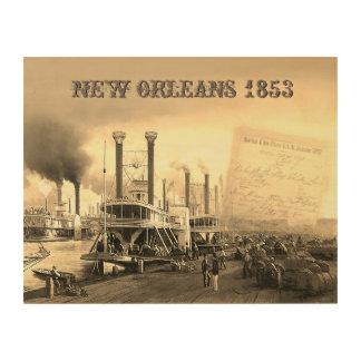 Impression Sur Bois Bateau à vapeur de la Nouvelle-Orléans