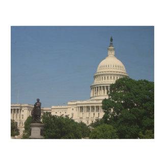 Impression Sur Bois Bâtiment de capitol dans le Washington DC