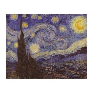Impression Sur Bois Beaux-arts de cru de nuit étoilée de Vincent van
