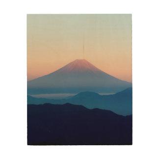 Impression Sur Bois Belle vue le mont Fuji, Japon, lever de soleil