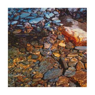 Impression Sur Bois Belles roches en photo de crique de l'eau