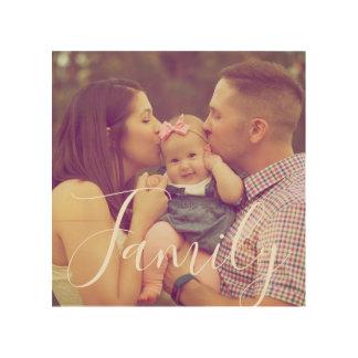 Impression Sur Bois Bois de photo de portrait de famille avec l'option