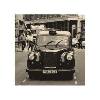 Impression Sur Bois Bois noir et blanc de cabine de Londres
