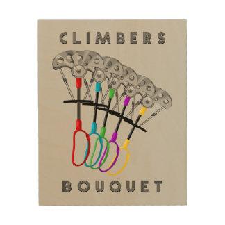 Impression Sur Bois Bouquet drôle de grimpeurs de roche