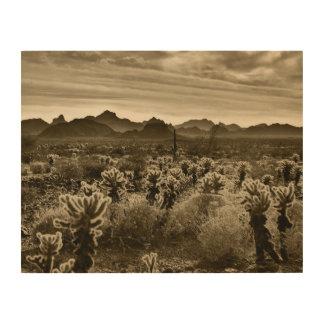 Impression Sur Bois Cactus de Cholla d'ours de nounours