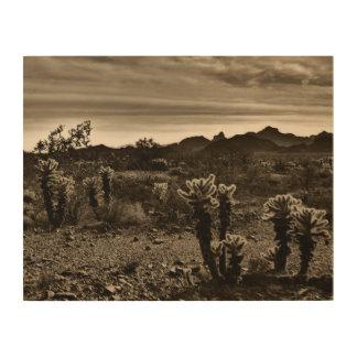 Impression Sur Bois Cactus de désert