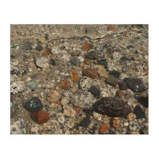 Impression Sur Bois Cailloux de granit en nature de Yosemite de lac
