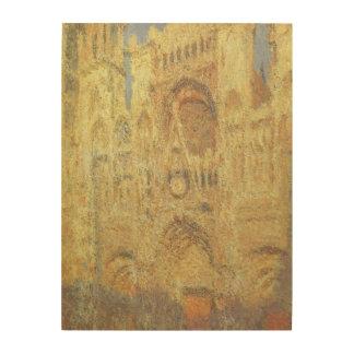 Impression Sur Bois Cathédrale de Rouen, coucher du soleil par Claude