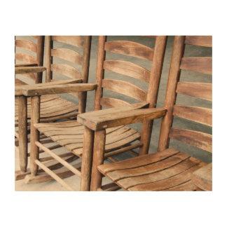 Impression Sur Bois Chaises de basculage en bois rustiques