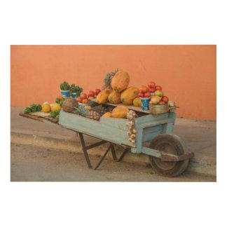 Impression Sur Bois Chariot de fruits et légumes, Cuba