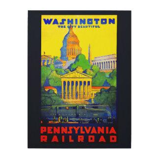 Impression Sur Bois Chemin de fer de la Pennsylvanie à DC de