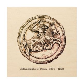 Impression Sur Bois Chevaliers de Coffyn de Devon 1216 - 1272