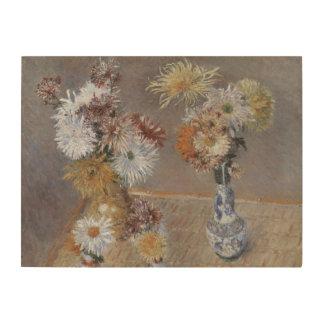 Impression Sur Bois Chrysanthèmes par Gustave Caillebotte