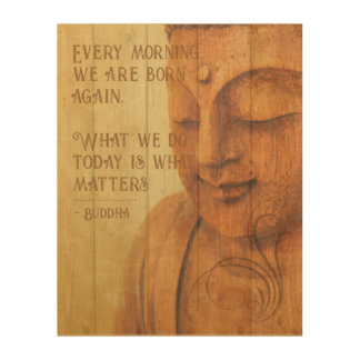 Impression Sur Bois Citation positive de Mindfulness de bouddhisme