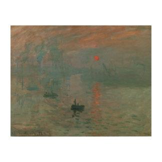 Impression Sur Bois Claude Monet - impression, lever de soleil