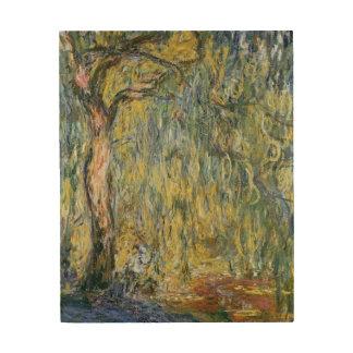 Impression Sur Bois Claude Monet | le grand saule chez Giverny, 1918