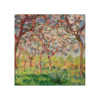 Impression Sur Bois Claude Monet | Printemps un Giverny
