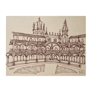 Impression Sur Bois Cloître   Lisbonne, Portugal de monastère de