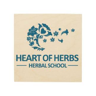 Impression Sur Bois Coeur d'art de fines herbes de mur d'école
