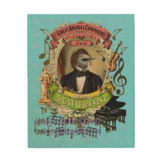 Impression Sur Bois Compositeur animal drôle Schubert de Franz
