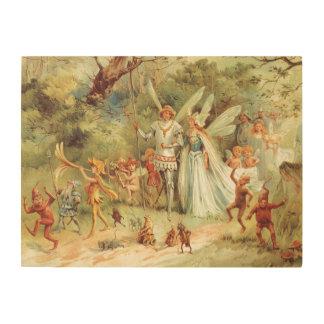 Impression Sur Bois Contes de fées vintages, Thumbelina et prince