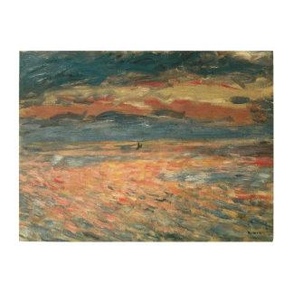 Impression Sur Bois Coucher du soleil en mer par Pierre Renoir,