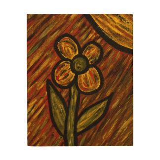 Impression Sur Bois Couleurs abstraites d'automne d'automne de fleur