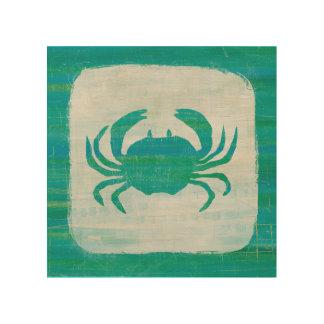 Impression Sur Bois Crabe côtier d'Aqua de  