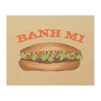 Impression Sur Bois Cuisinier vietnamien de cuisine de sandwich à