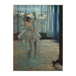 Impression Sur Bois Danseur d'Edgar Degas   devant une fenêtre