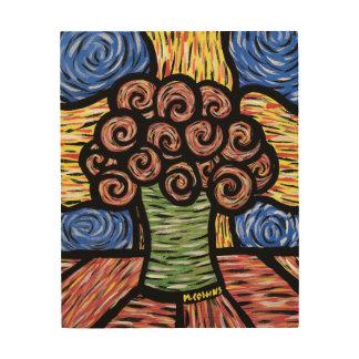 Impression Sur Bois De fleurs toujours la vie abstraite colorée