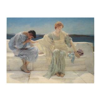 Impression Sur Bois Demandez-moi pas plus par Alma Tadema, romantisme