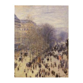 Impression Sur Bois DES Capucines par Claude Monet, beaux-arts de