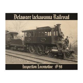 Impression Sur Bois DL+ Locomotive d'inspection de vapeur de W