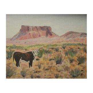Impression Sur Bois Dogie de désert