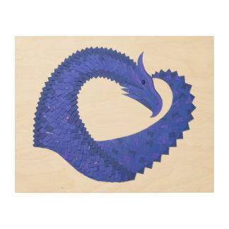 Impression Sur Bois Dragon bleu de coeur