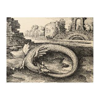 Impression Sur Bois Dragon d'Ouroboros