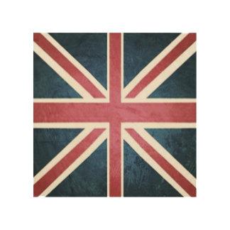 Impression Sur Bois Drapeau britannique grunge de cric des syndicats