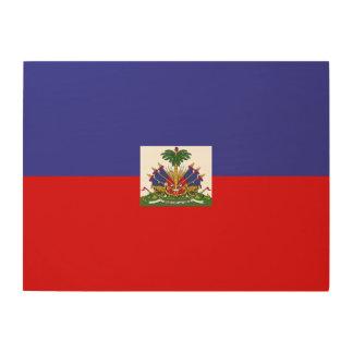 Impression Sur Bois Drapeau du Haïti