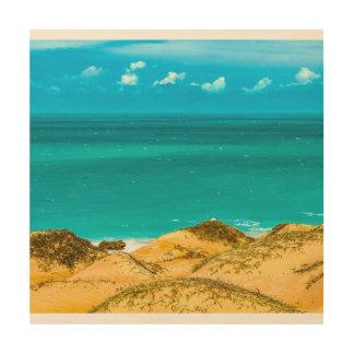 Impression Sur Bois Dunes et océan Jericoacoara Brésil