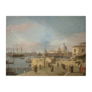 Impression Sur Bois Entrée au canal grand du Molo, Venise