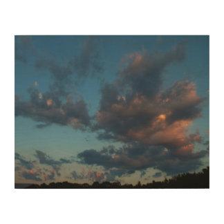 Impression Sur Bois Été occidental 2016 de ciel et de nuages de lever