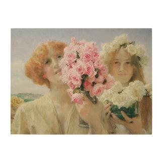 Impression Sur Bois Été offrant, Alma Tadema, romantisme vintage