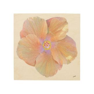 Impression Sur Bois Fleur de ketmie d'aquarelle d'Hawaï