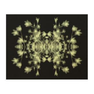 Impression Sur Bois Floral abstrait